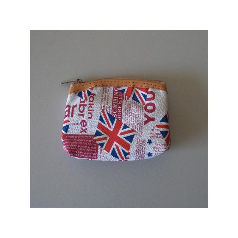achat authentique comment choisir nouveau design Un porte monnaie modèle Newspaper Anglais couleur blanc et rouge NEUF.