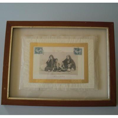 une carte postale de style orientaliste sur une feuille d 39 or 1907 1921. Black Bedroom Furniture Sets. Home Design Ideas