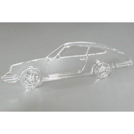 Sculpture Porsche 911 plexiglas translucide Taille 60 cm
