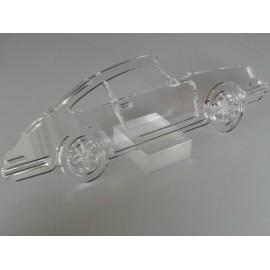 Sculpture Porsche 911 plexiglas avec support Taille 60 cm