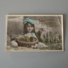 CPA Joyeuses Paques carte colorisée STEBBING Phot