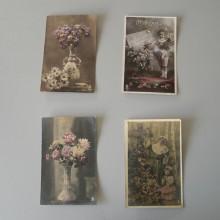 CPA lot de 4 cartes postales ARS de 1900