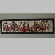 Batik parade des éléphants origine Sri Lanka 30x110