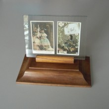 Support cadre photo en bois année 50-60