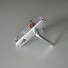 Une paire de poignée de porte en aluminium