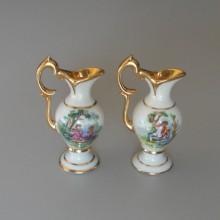 Deux aiguières, pichets, cruches porcelaine de Limoges