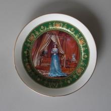 Assiette commémorative Napoléon 1814