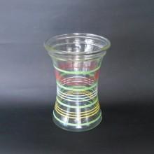 Ancien vase VINTAGE 1960 en verre Deco Multicolores Marque ADP