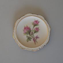 Cendrier en porcelaine déco floral WUNSIEDEL BAVARIA