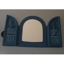 Miroir salle de bain textile bleu IKEA