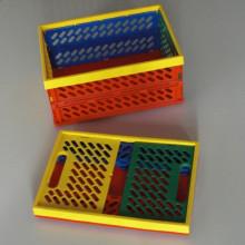 Caisse de rangement pliable multicolore