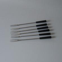 Brochettes a fondue métal et code couleur 25 cm