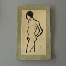 Peinture Homme nu de T. EKASALA 87
