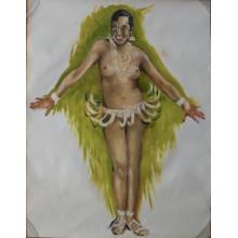Dessins et peinture sur Joséphine BAKER de T. EKASALA 88