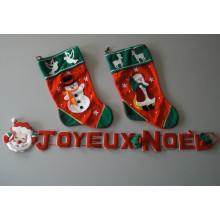 Bannière JOYEUX NOEL avec deux chaussettes