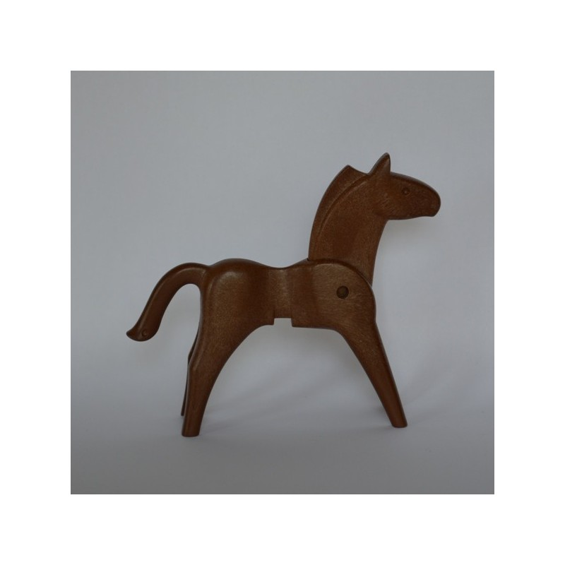 Playmobil cheval rouge foncé 2