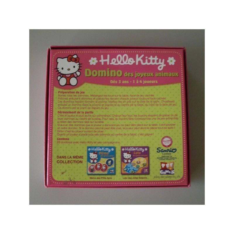 Coffret Pour Enfant Domino Des Joyeux Animaux Hello Kitty