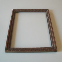 Cadre bois style Art nouveau 28 x 37 cm