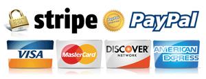 Paiement sécurisé par Stripe ou Paypal